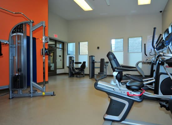 Fitness center at Washington Apartments in Washington