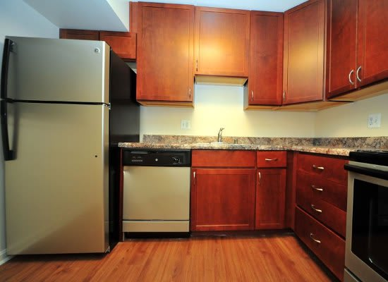 Kitchen at Washington Apartments