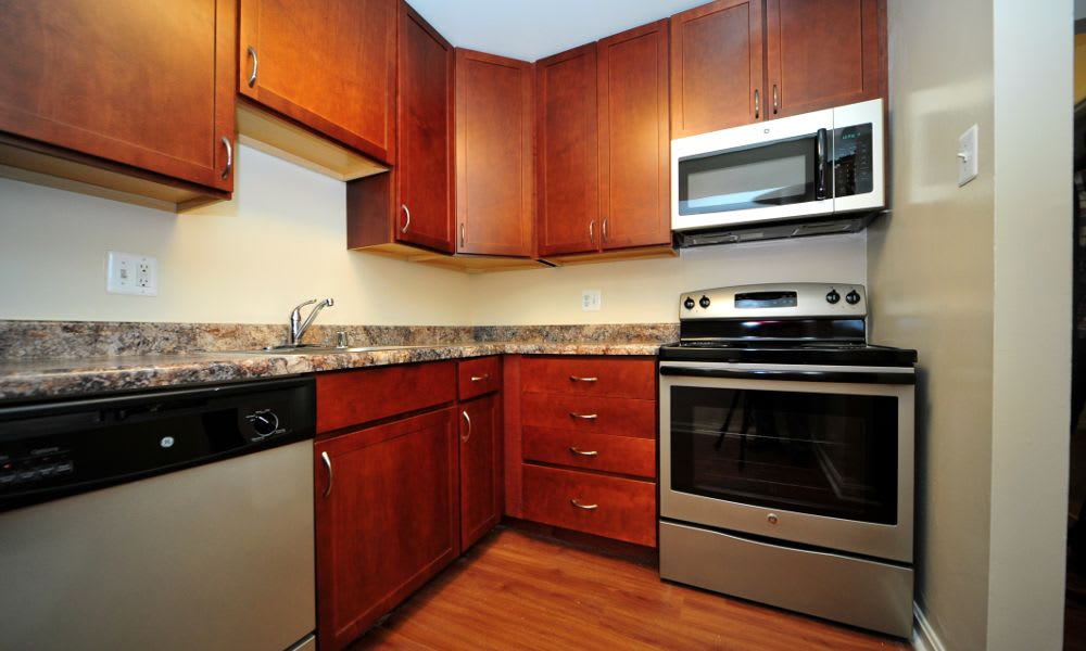 Updated kitchen at Washington Apartments in Washington