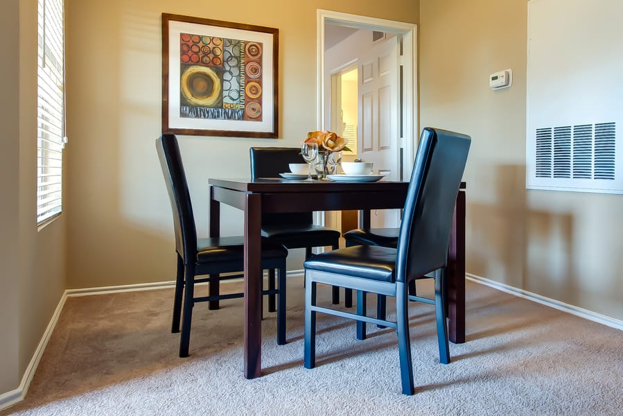 Dining room table at CWS Home Services