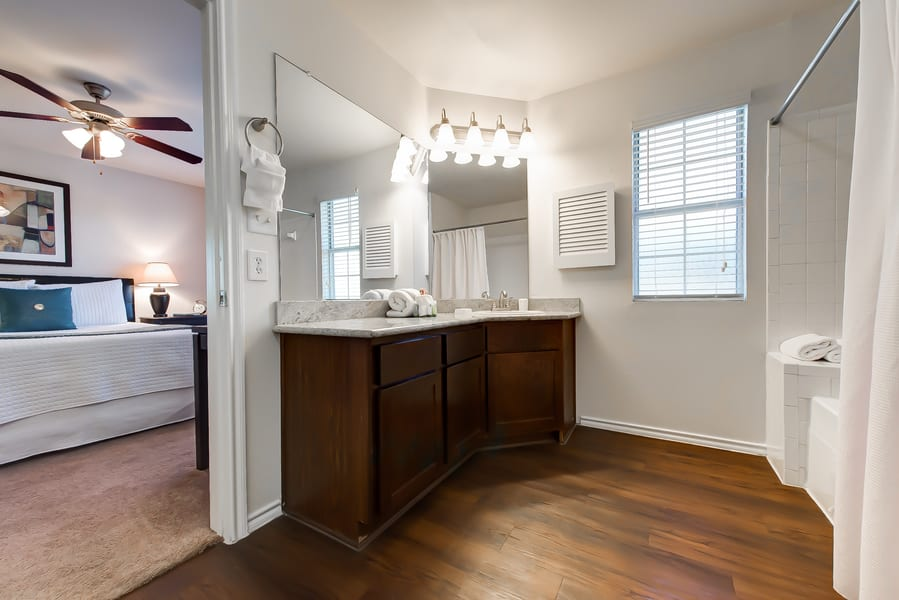 Apartments with hard wood flooring at CWS Home Services