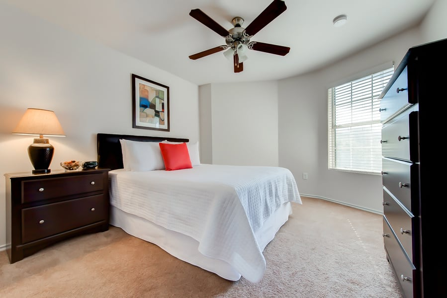 Guest bedroom in a CWS Home Services home