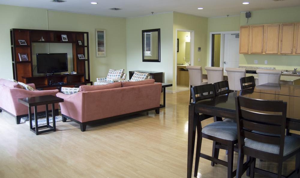 clubhouse living at The Flats at West Broad Village in Glen Allen, VA