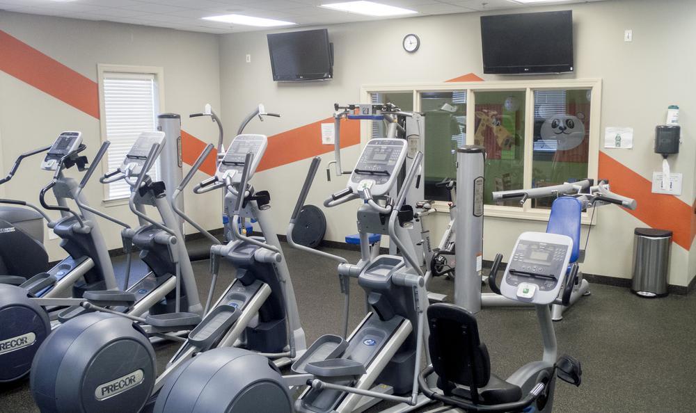 fitness center at The Flats at West Broad Village in Glen Allen, VA