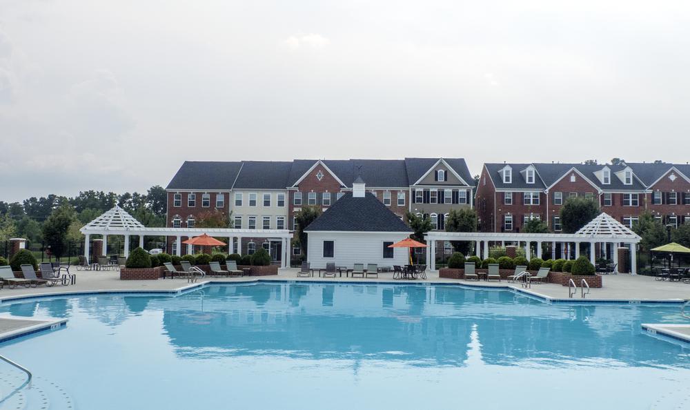 pool at The Flats at West Broad Village in Glen Allen, VA