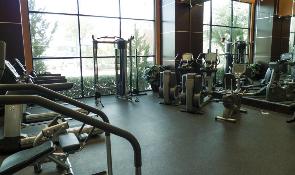 Fitness Center at Elan At Bluffview Apartments in Dallas, TX