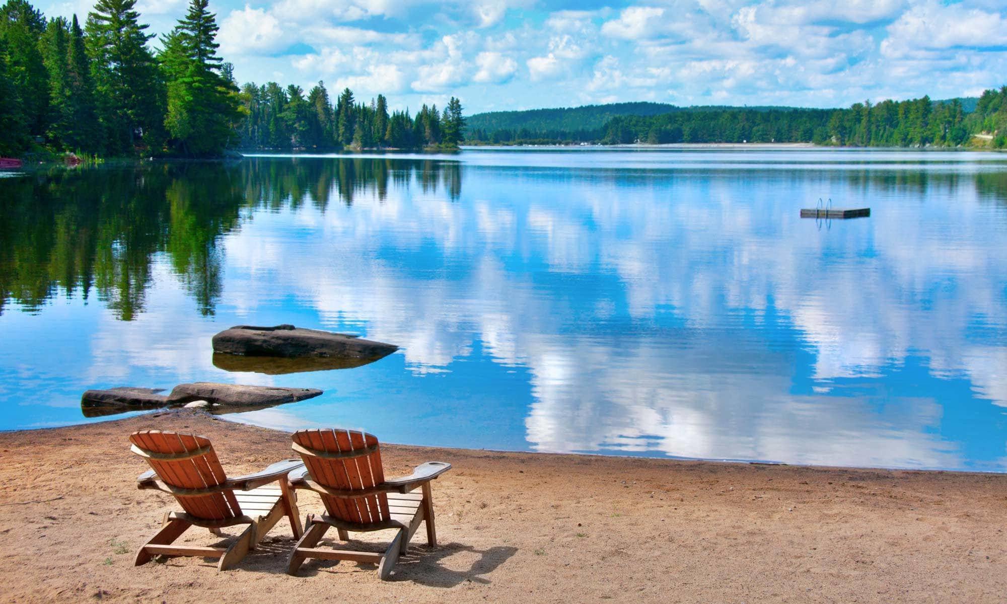 Beautiful view of Surprise Lake near Surprise Lake Village