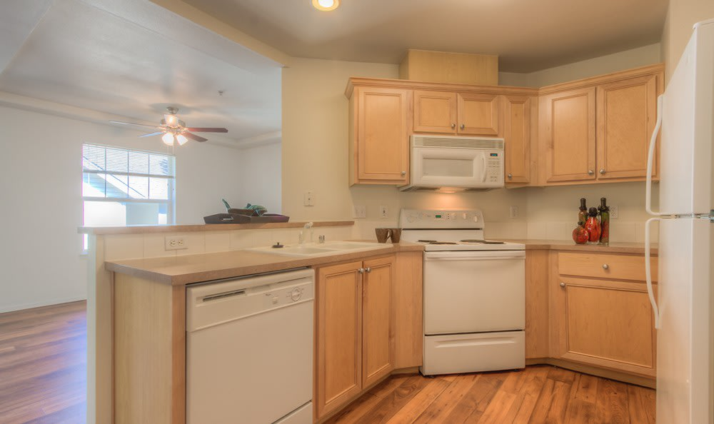 Another model home at Bradley Park Apartments in Puyallup showcasing modern kitchen