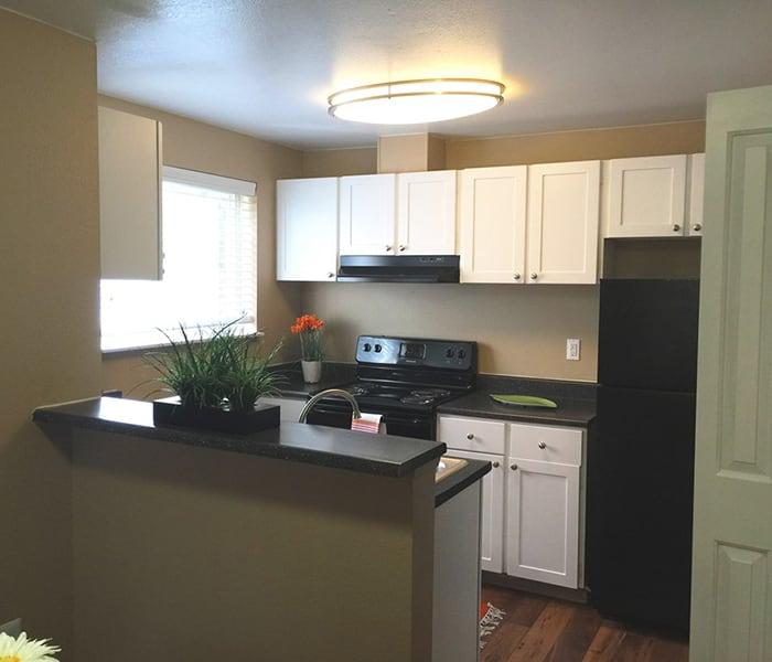 Upgraded kitchen at Village at Seeley Lake