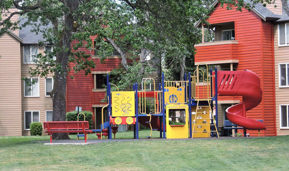 On-site playground at Village at Seeley Lake in Lakewood