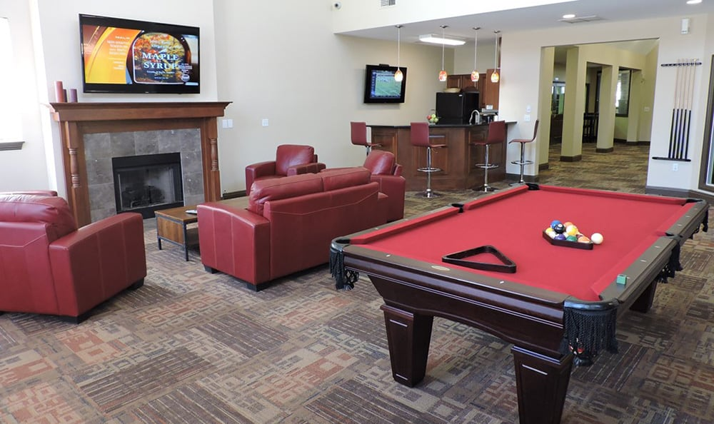 Billiards table at Village at Seeley Lake in Lakewood
