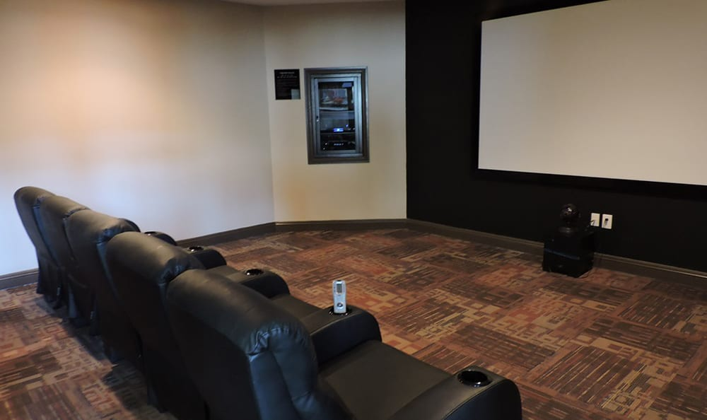On-site movie theater at Village at Seeley Lake in Lakewood