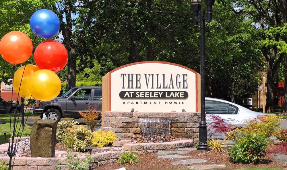 Our sign at Village at Seeley Lake in Lakewood