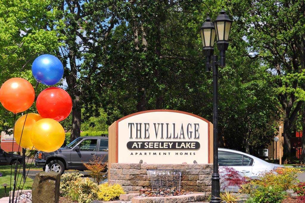 Sign at Village at Seeley Lake in Lakewood