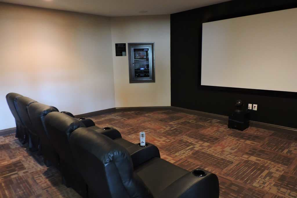 Movie theater interior at Village at Seeley Lake in Lakewood