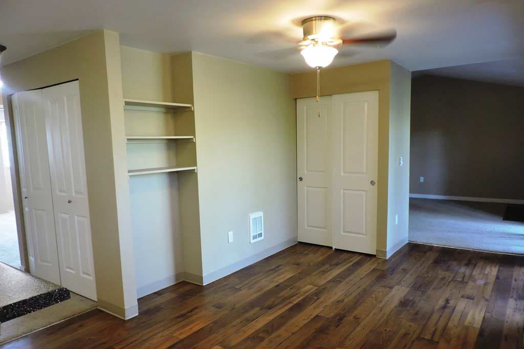 Hardwood floors and more in our apartment homes at Village at Seeley Lake in Lakewood, Washington