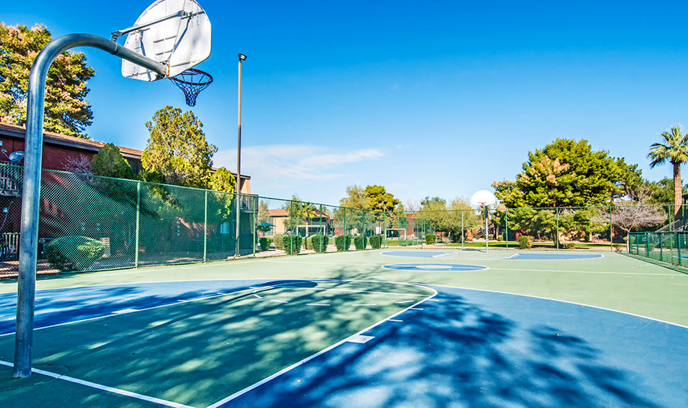 Basketball court at Aventerra at Dobson Ranch in Mesa
