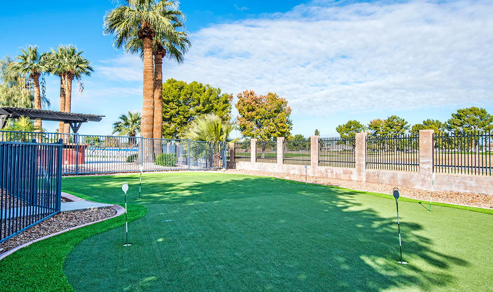 Putting green at Aventerra at Dobson Ranch in Mesa