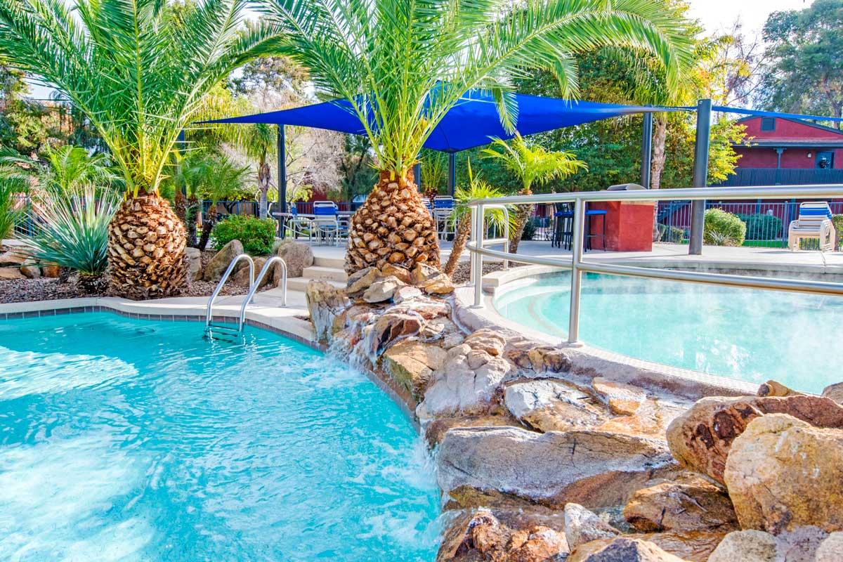 Swimming pool area at Aventerra at Dobson Ranch