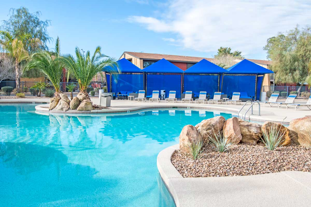 Our sparkling pool awaits at Aventerra at Dobson Ranch in Mesa