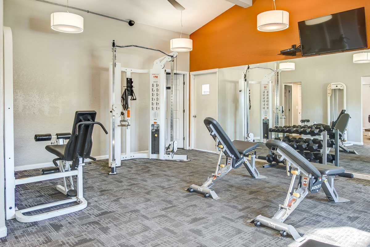 On-site fitness center interior at Aventerra at Dobson Ranch
