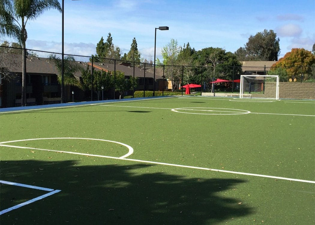 On-site soccer field at Presidio at Rancho Del Oro in Oceanside