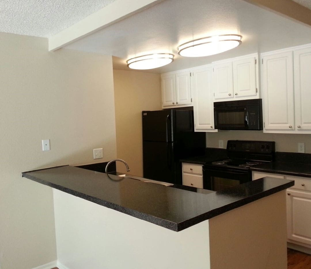 Luxurious, modern kitchen in apartment home at Presidio at Rancho Del Oro in Oceanside