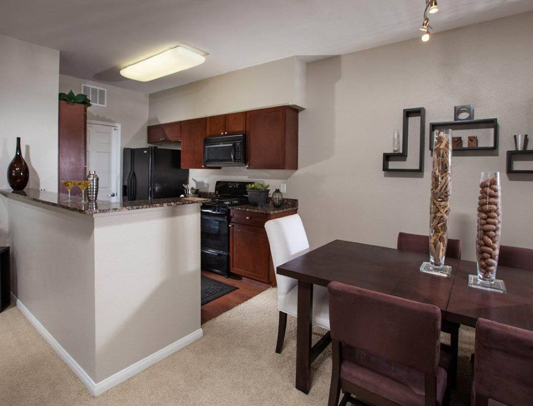 Fully Equipped kitchen at Vista Imperio Apartments in Riverside