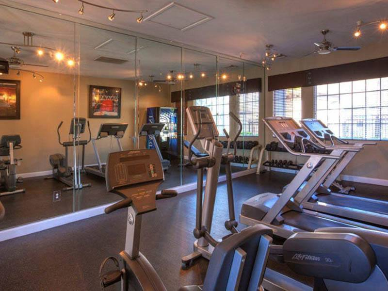 Fitness center at Vista Imperio Apartments