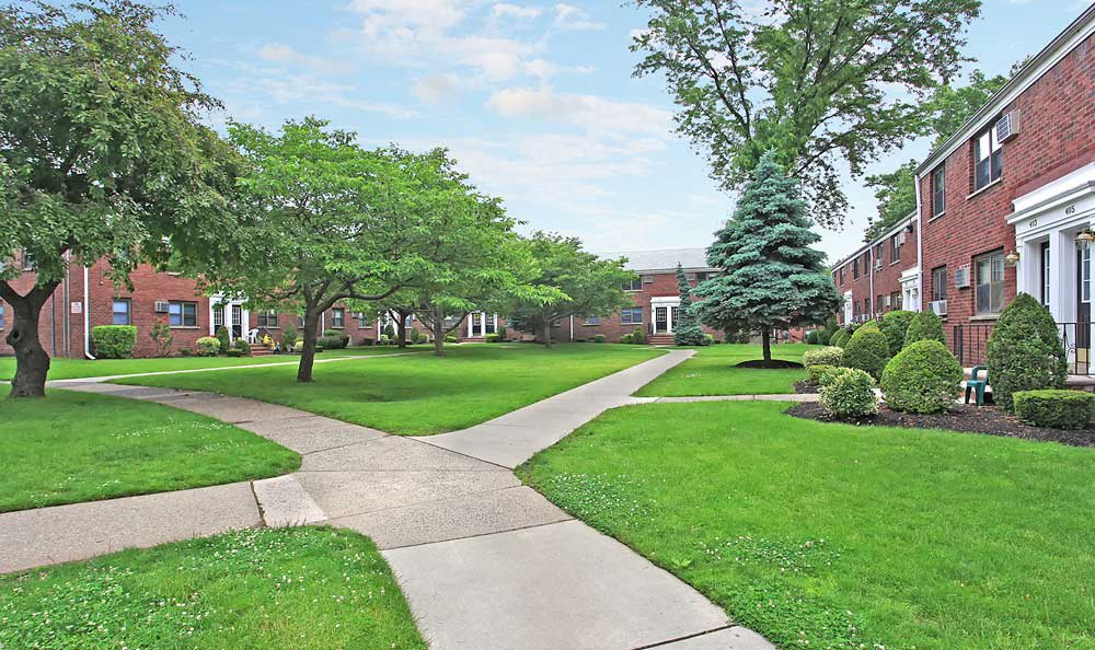 Admire the trees and shrubs around the grounds of Boulevard Apartments