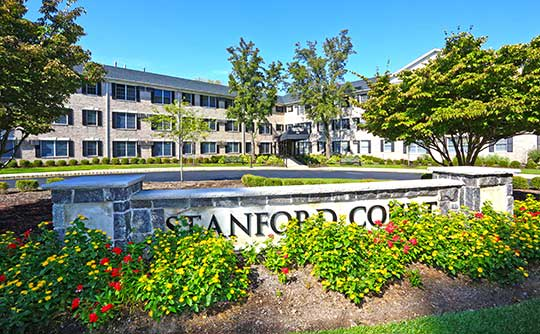 Stanford Court Apartments is tranquil and away from the hustle and bustle.