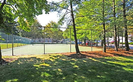 Enjoy little tennis at the well-maintained grounds of Village on the Green