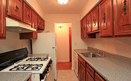 Fully-equipped kitchens at The Madison Apartments allow for endless culinary creations!