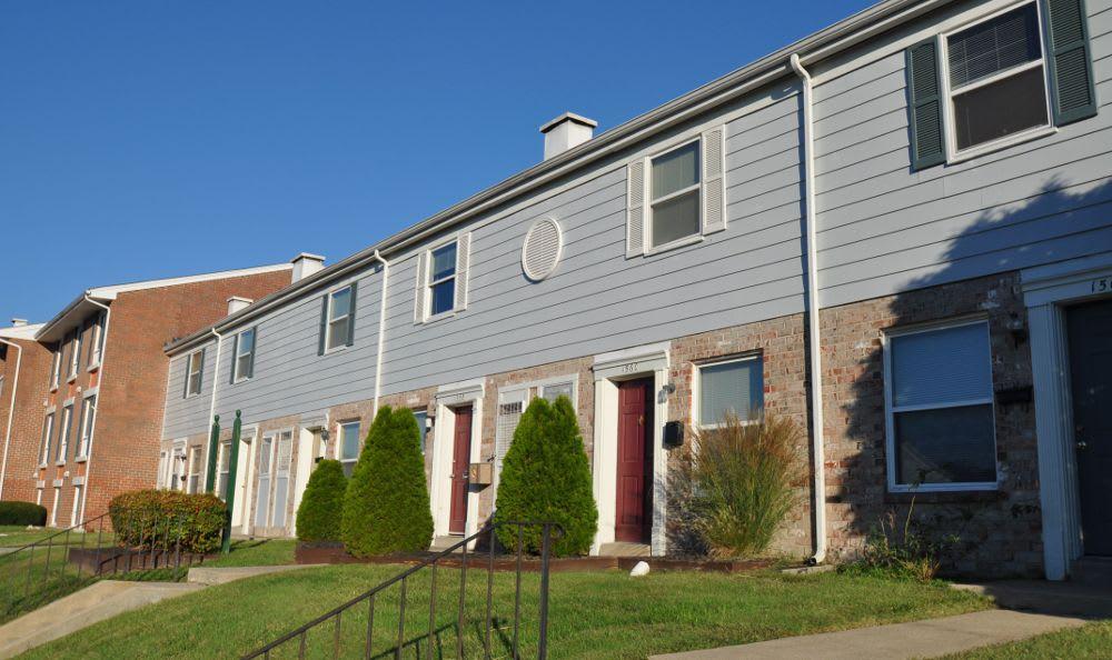 Apartment building exterior at Essex Park in MD