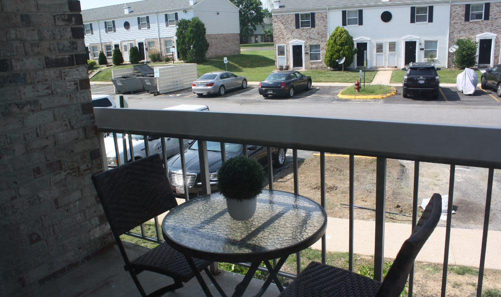Balcony view at Essex Park in Maryland