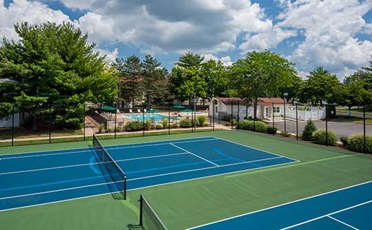 Tennis courts Quail Ridge Apartments