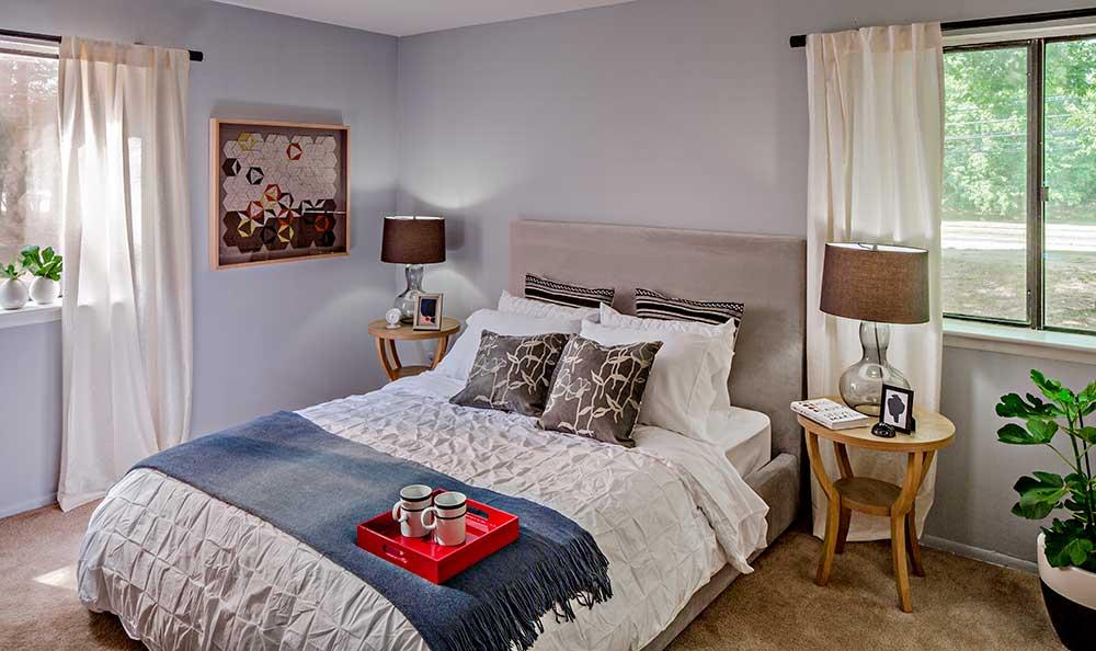Quail Ridge Apartments model bedroom