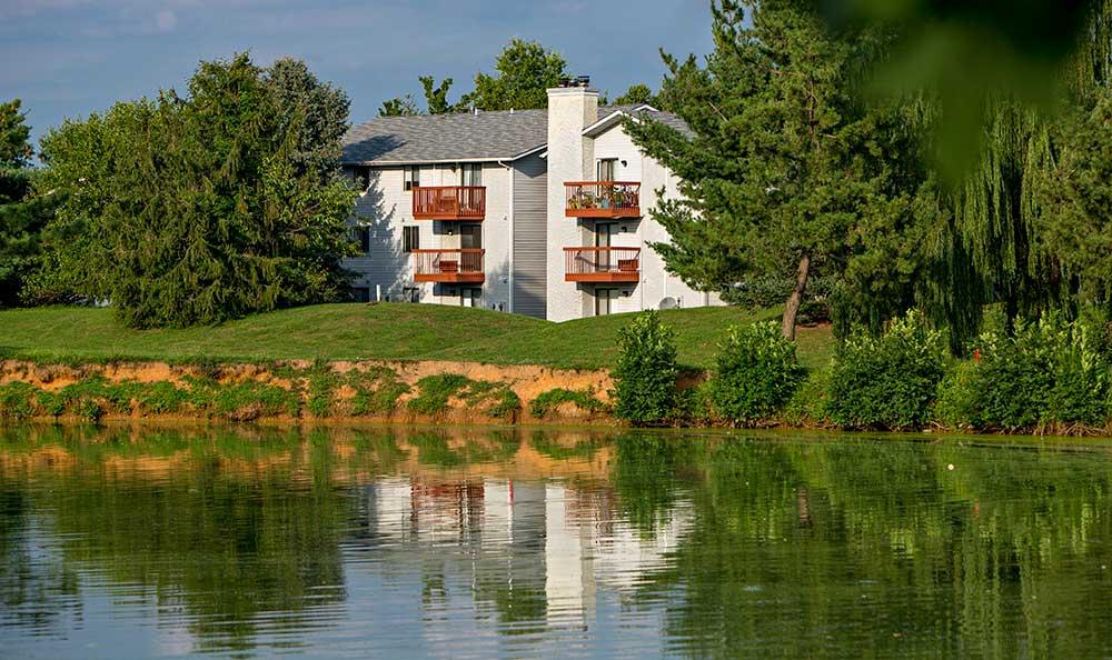 Quail Ridge Apartments on-site lake