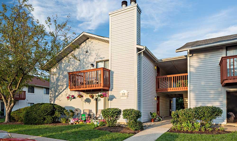 Private balconies at Quail Ridge Apartments