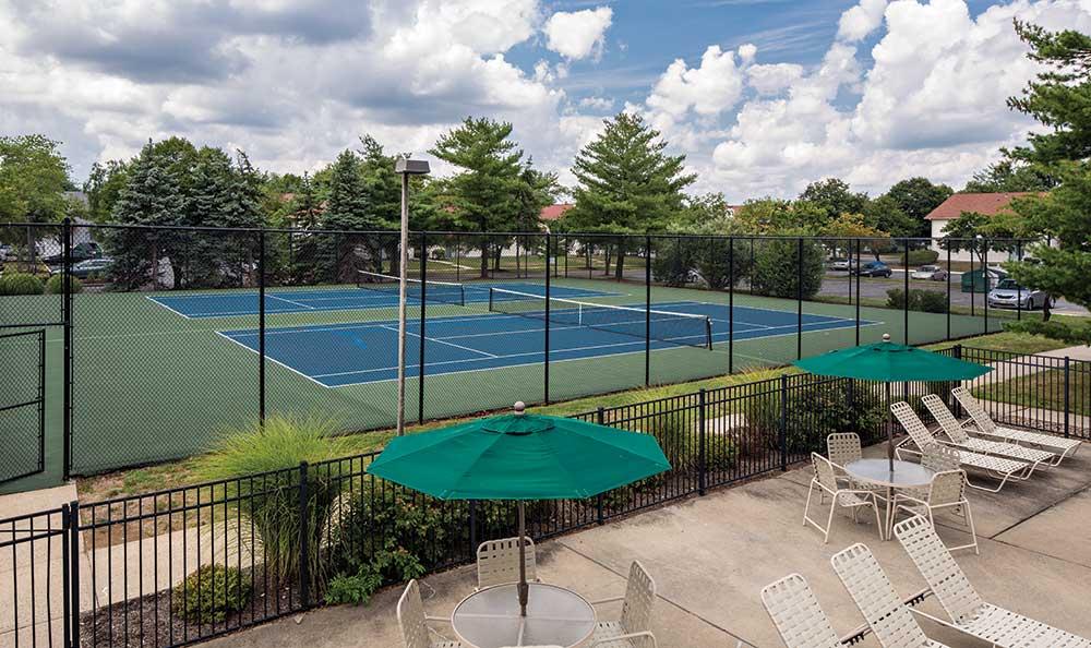 Tennis courts at Quail Ridge Apartments