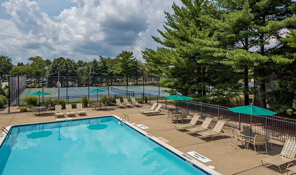 Sparkling pool at Quail Ridge Apartments