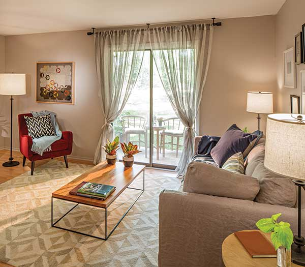Quail Ridge Apartments has naturally lit living rooms