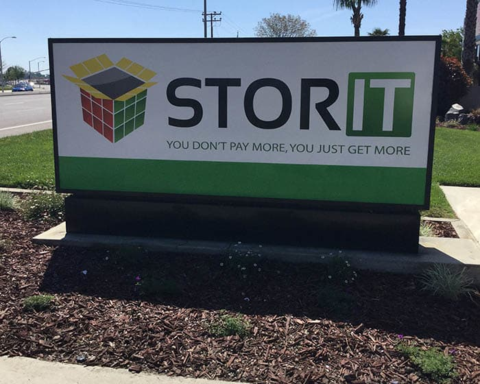 Front sign at Stor It Self Storage in Visalia