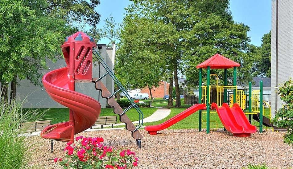 Slides at Glenview Gardens Apartments in Glen Burnie
