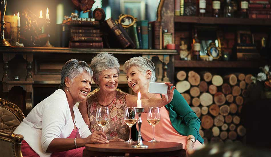 Cumberland Arms Apartments residents enjoying wine together