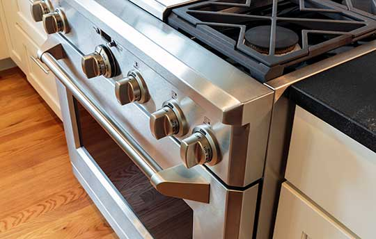 Updated appliances at Barclay Apartments