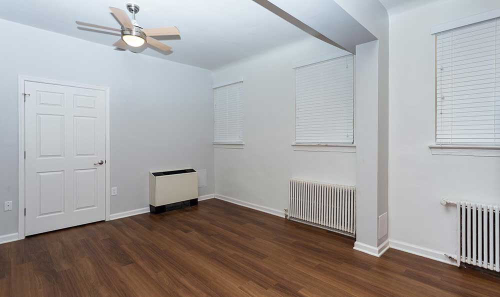 Hardwood floors at