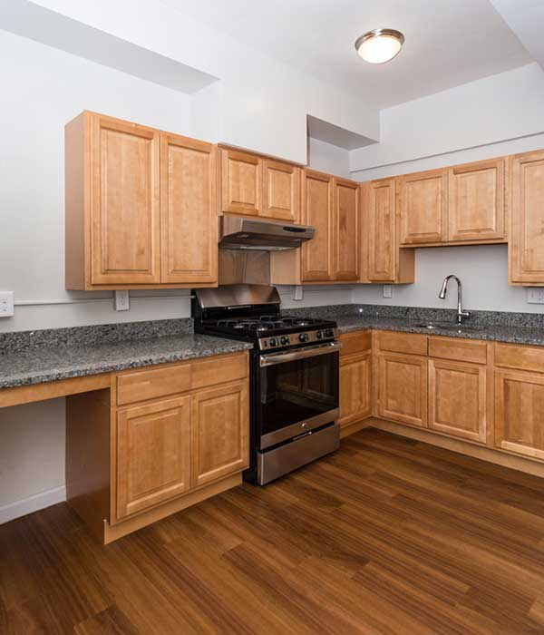 Brightwood Communities kitchens with hardwood floors