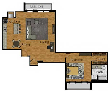 One Bedroom Large w/ Basement