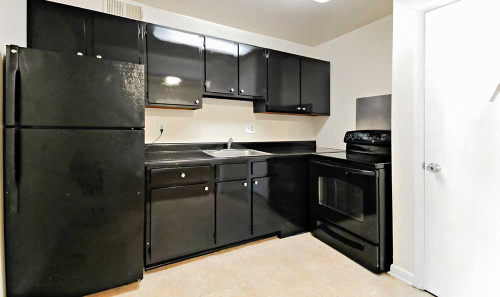 Washington apartments with all black appliances